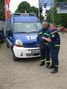 Offizielle Übergabe des neuen MTW Zugtrupp am 14.05.2011 (v.l.n.r. Ortsbeauftragter Hans-Joachim Sakowski, Geschäftsführer Itzehoe Stefan Tahn)